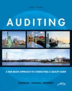 Solution Manual (Complete Download) for Auditing: A Risk-Based Approach to Conducting a Quality Audit, 9th Edition, Karla Johnstone, Audrey Gramling, Larry E. Rittenberg, ISBN-10: 1133939155, ISBN-13: 9781133939153, Instantly Downloadable Solution Manual, Complete (ALL CHAPTERS) Solution Manual