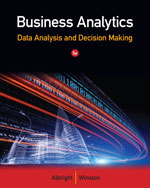 Solution Manual (Complete Download) for Business Analytics: Data Analysis & Decision Making, 5th Edition, S. Christian Albright, Wayne L. Winston, ISBN-10: 1133629601, ISBN-13: 9781133629603, Instantly Downloadable Solution Manual, Complete (ALL CHAPTERS) Solution Manual