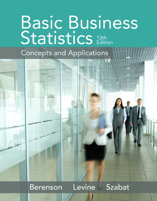 Solution Manual (Complete Download) for Basic Business Statistics, 13/E, Mark L. Berenson, David M. Levine, Kathryn A. Szabat, ISBN-10: 0321870026, ISBN-13: 9780321870025, ISBN-10: 0133869466, ISBN-13: 9780133869460, Instantly Downloadable Solution Manual, Complete (ALL CHAPTERS) Solution Manual