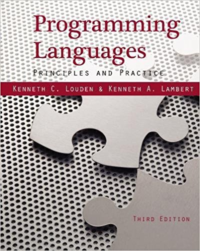 Solution manual for Programming Languages: Principles and Practices 3rd Edition by Louden