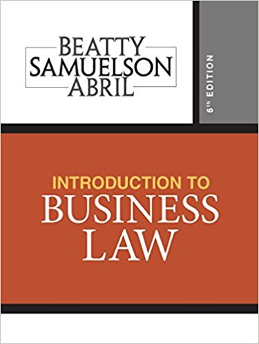 Test bank for Introduction to Business Law 6th Edition by Beatty