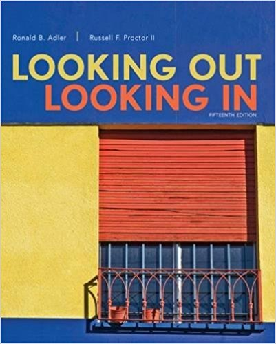 Test bank for Looking Out, Looking In 5th Edition by Adler