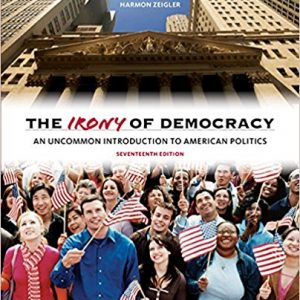 Test bank for The Irony of Democracy 7th Edition by Schubert