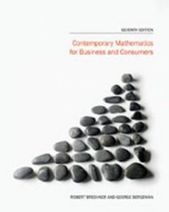 Solution Manual (Complete Download) for Contemporary Mathematics for Business and Consumers, 7th Edition, Robert Brechner, George Bergeman, ISBN-10: 1285189752, ISBN-13: 9781285189758, Instantly Downloadable Solution Manual, Complete (ALL CHAPTERS) Solution Manual