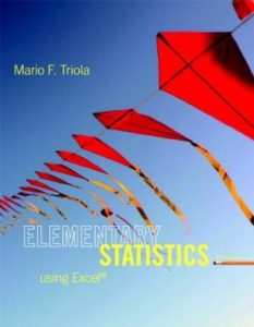 Solution Manual (Complete Download) for Elementary Statistics Using Excel, 5/E, Mario F. Triola, ISBN-10: 0321851668, ISBN-13: 9780321851666, ISBN-10: 0321890248, ISBN-13: 9780321890245, Instantly Downloadable Solution Manual, Complete (ALL CHAPTERS) Solution Manual
