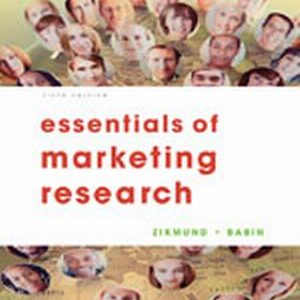 Solution Manual (Complete Download) for Essentials of Marketing Research, 5th Edition, William G. Zikmund, Barry J. Babin, ISBN-10: 1133190642, ISBN-13: 9781133190646, Instantly Downloadable Solution Manual, Complete (ALL CHAPTERS) Solution Manual