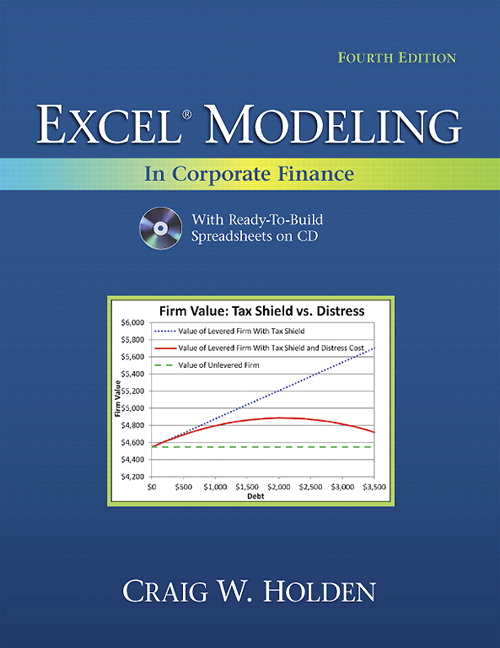 Solution Manual (Complete Download) for Excel Modeling in Corporate Finance, 4/E, Craig W. Holden, ISBN-10: 0132497840, ISBN-13: 9780132497848, Instantly Downloadable Solution Manual, Complete (ALL CHAPTERS) Solution Manual