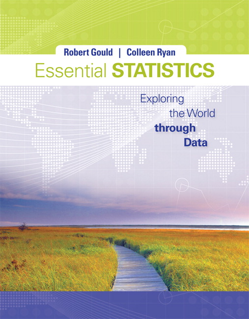 Solution Manual (Complete Download) for Essential Statistics, Robert N. Gould, Colleen N. Ryan, ISBN-10: 0321836987, ISBN-13: 9780321836984, ISBN-10: 0321876237, ISBN-13: 9780321876232, Instantly Downloadable Solution Manual, Complete (ALL CHAPTERS) Solution Manual