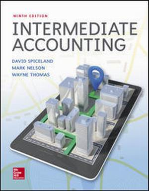 Solution Manual (Complete Download) for Intermediate Accounting, 9th Edition, By J. David Spiceland, Mark Nelson, Wayne Thomas ISBN10: 125972266X, ISBN13: 9781259722660, Instantly Downloadable Solution Manual, Complete (ALL CHAPTERS) Solution Manual