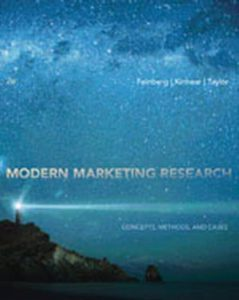 Solution Manual (Complete Download) for Modern Marketing Research: Concepts, Methods, and Cases, 2nd Edition, Fred M. Feinberg, Thomas Kinnear, James R. Taylor, ISBN-10: 1133188966, ISBN-13: 9781133188964, Instantly Downloadable Solution Manual, Complete (ALL CHAPTERS) Solution Manual
