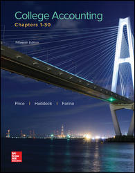 Solution manual for College Accounting Chapters 1-30 15th Edition John Price, M. David Haddock, Michael Farina ISBN: 9781259631115