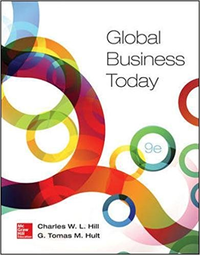 Solution manual for Global Business Today 9th Edition Charles W. L. Hill,G. Tomas M. Hult ISBN: 9780078112911