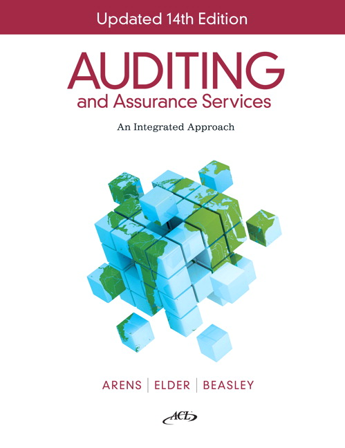 Solution Manual (Complete Download) for Auditing and Assurance Services, Update, 14/E, Alvin A Arens, Randal J Elder, Mark Beasley, ISBN-10: 1256560812, ISBN-13: 9781256560814, Instantly Downloadable Solution Manual, Complete (ALL CHAPTERS) Solution Manual
