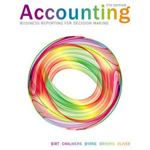 Solution Manual (Complete Download) for Accounting Business Reporting For Decision Making, 5th Edition, Jacqueline Birt, Keryn Chalmers, Suzanne Maloney, Albie Brooks, Judy Oliver, ISBN: 1118624181, ISBN: 9781118624180, Instantly Downloadable Solution Manual, Complete (ALL CHAPTERS) Solution Manual