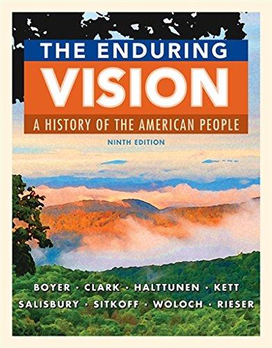Solution manual for The Enduring Vision A History of the American People 9th Edition by Boyer
