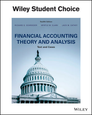 Test bank for Financial Accounting Theory and Analysis: Text and Cases 12th Edition by Schroeder