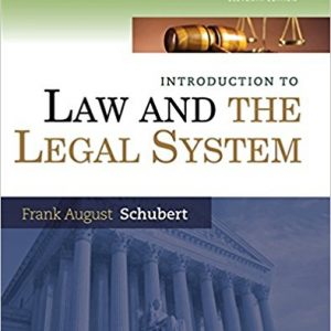 Test bank for Introduction to Law and the Legal System 11th Edition by Schubert