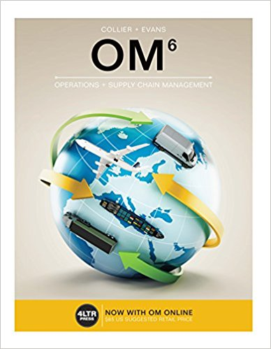 Test bank for OM 6th Edition by Collier