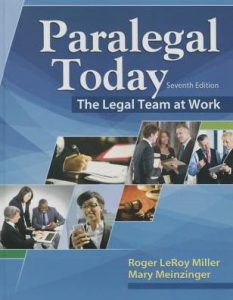 Test bank for Paralegal Today: The Legal Team at Work 7th Edition by Miller