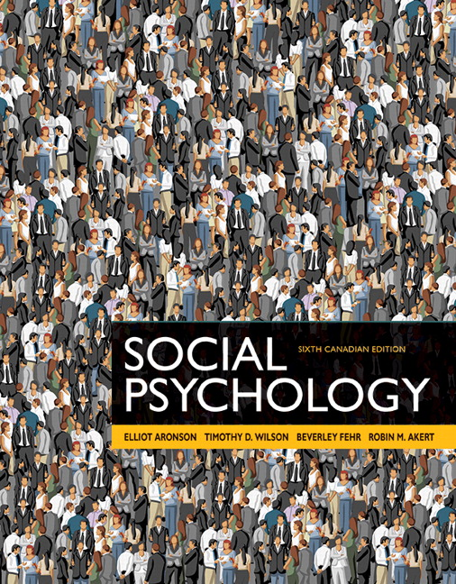 Test bank for Social Psychology 6th Edition by Aronson