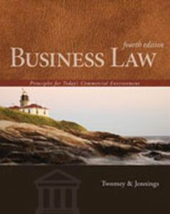 Solution Manual (Complete Download) for Business Law: Principles for Today's Commercial Environment, 4th Edition, David P. Twomey, Marianne M. Jennings, ISBN-10: 1133588247, ISBN-13: 9781133588245, Instantly Downloadable Solution Manual, Complete (ALL CHAPTERS) Solution Manual