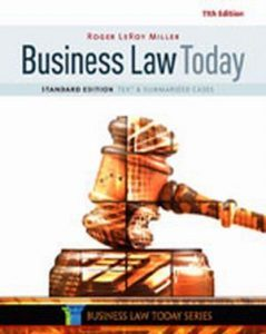 Solution Manual (Complete Download) for Business Law Today, Standard: Text & Summarized Cases, 11th Edition, Roger LeRoy Miller, ISBN-10: 1305644522, ISBN-13: 9781305644526, Instantly Downloadable Solution Manual, Complete (ALL CHAPTERS) Solution Manual