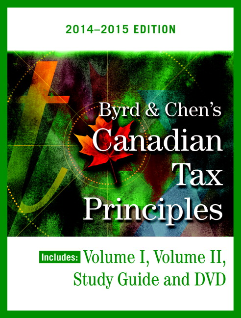 Solution Manual (Complete Download) for Byrd & Chen's Canadian Tax Principles, 2014 – 2015 Edition, Volume I & II with Study Guide, Clarence Byrd, Ida Chen, ISBN-10: 013400051X, ISBN-13: 9780134000510, Instantly Downloadable Solution Manual, Complete (ALL CHAPTERS) Solution Manual