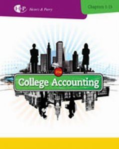 Solution Manual (Complete Download) for College Accounting, Chapters 1-15, 21st Edition, James A. Heintz, Robert W. Parry, ISBN-10: 1285055446, ISBN-13: 9781285055442, Instantly Downloadable Solution Manual, Complete (ALL CHAPTERS) Solution Manual