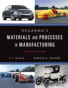 Solution Manual (Complete Download) for DeGarmo's Materials and Processes in Manufacturing, 11th Edition, J. T. Black, Ronald A. Kohser, ISBN : 9781118215135, ISBN : 9780470924679, Instantly Downloadable Solution Manual, Complete (ALL CHAPTERS) Solution Manual