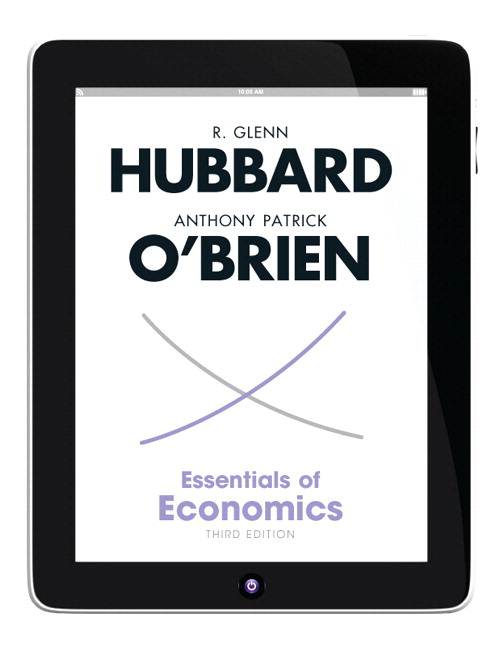 Solution Manual (Complete Download) for Essentials of Economics, 3/E, R. Glenn Hubbard, Anthony P. O'Brien, ISBN-10: 0132961687, ISBN-13: 9780132961684, Instantly Downloadable Solution Manual, Complete (ALL CHAPTERS) Solution Manual