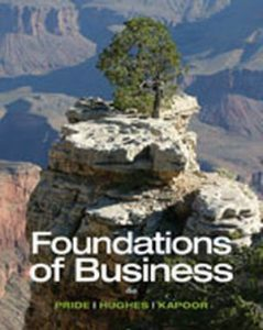 Solution Manual (Complete Download) for Foundations of Business, 4th Edition, William M. Pride, Robert J. Hughes, Jack R. Kapoor, ISBN-10: 1285193946, ISBN-13: 9781285193946, Instantly Downloadable Solution Manual, Complete (ALL CHAPTERS) Solution Manual