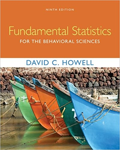 Solution manual for Fundamental Statistics for the Behavioral Sciences 9th Edition David C. Howell ISBN: 9781305652972